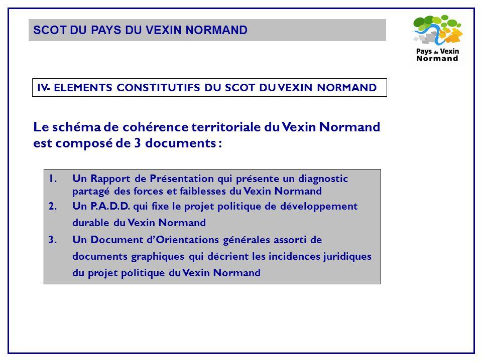 IV- ELEMENTS CONSTITUTIFS DU SCOT DU VEXIN NORMAND