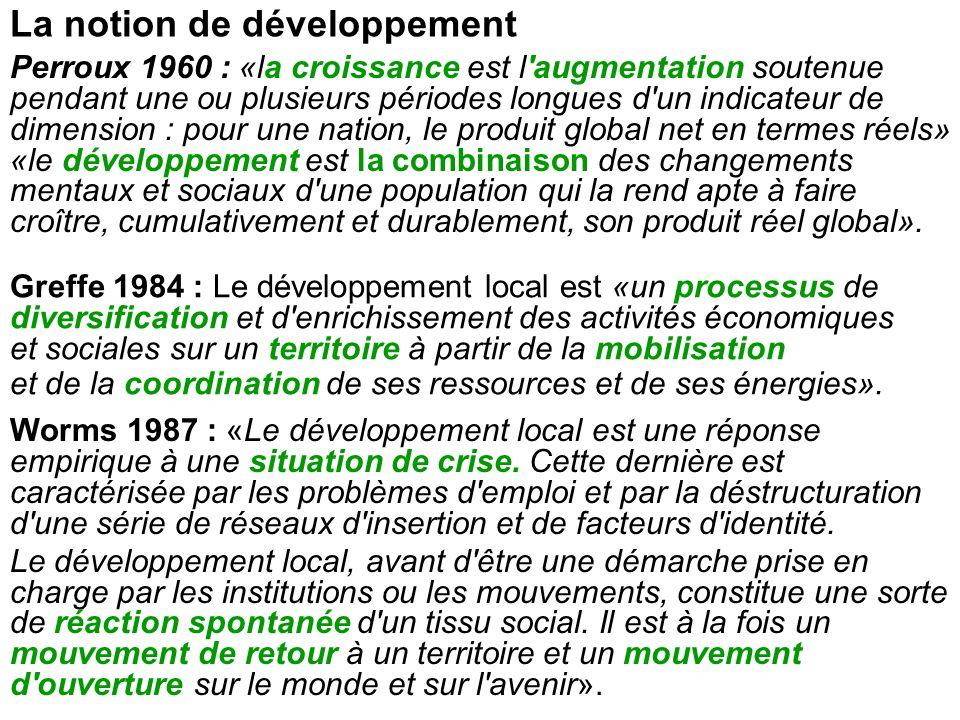 La notion de développement