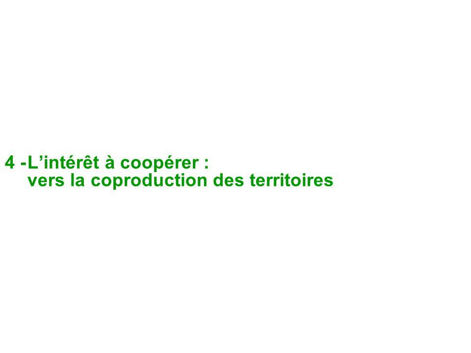 4 - L'intérêt à coopérer : vers la coproduction des territoires