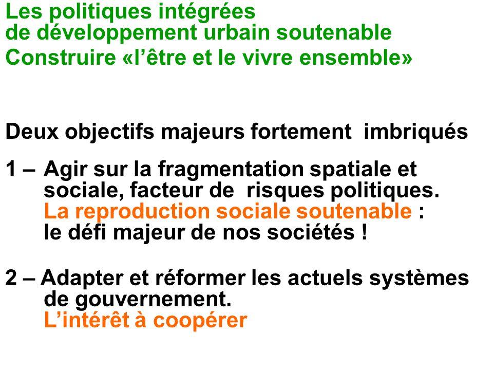 Les politiques intégrées