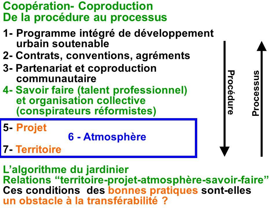 Coopération- Coproduction De la procédure au processus