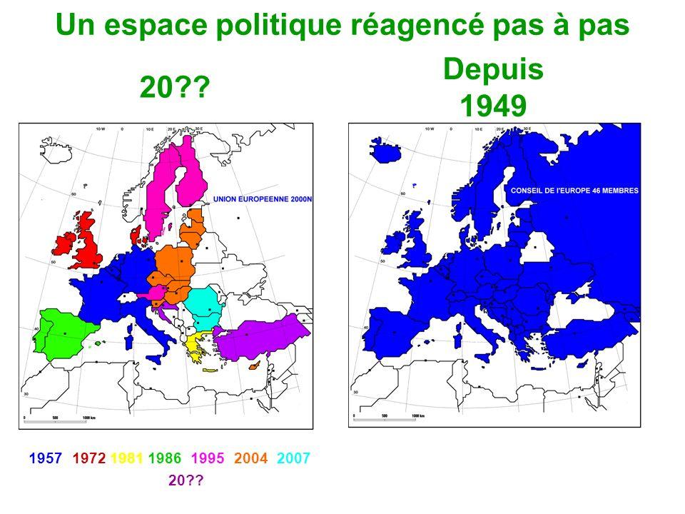 Un espace politique réagencé pas à pas