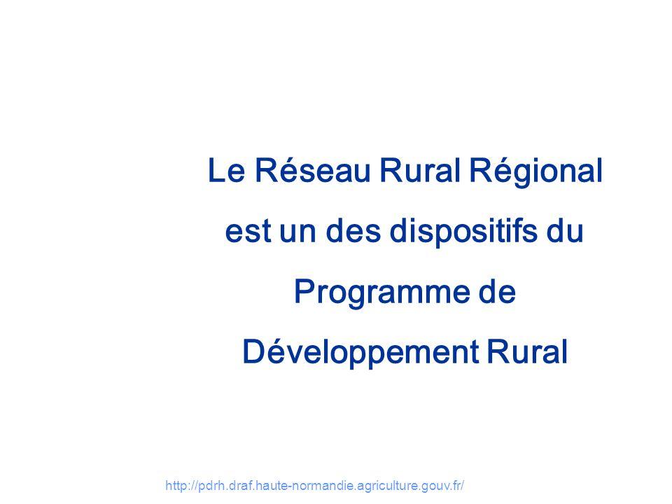 Le Réseau Rural Régional est un des dispositifs du Programme de Développement Rural