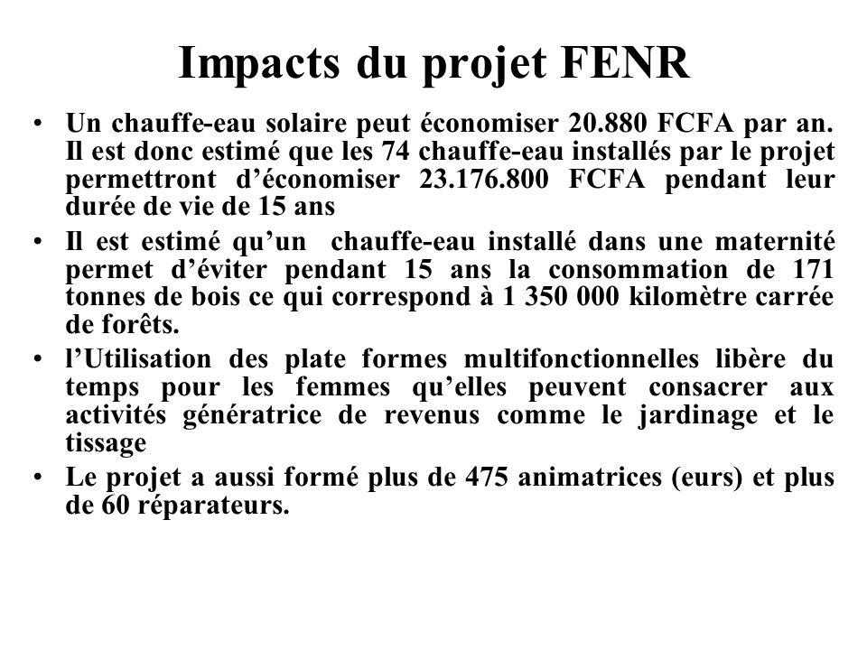 Impacts du projet FENR