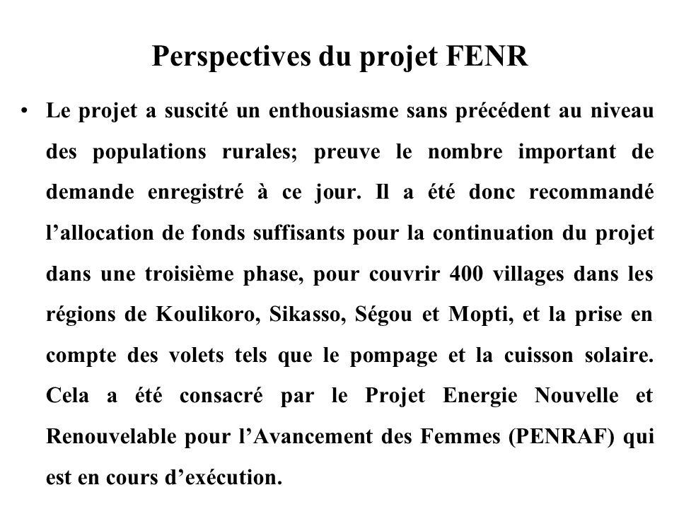 Perspectives du projet FENR