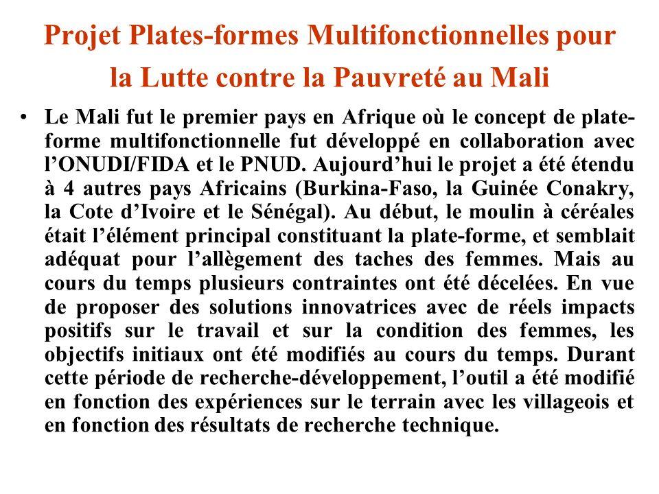 Projet Plates-formes Multifonctionnelles pour la Lutte contre la Pauvreté au Mali