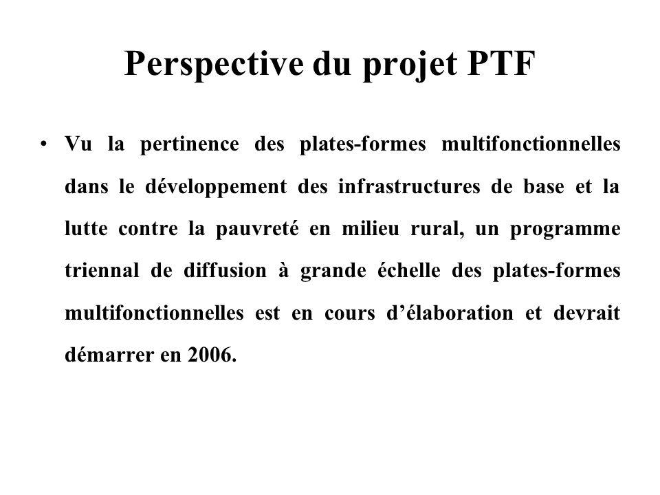 Perspective du projet PTF