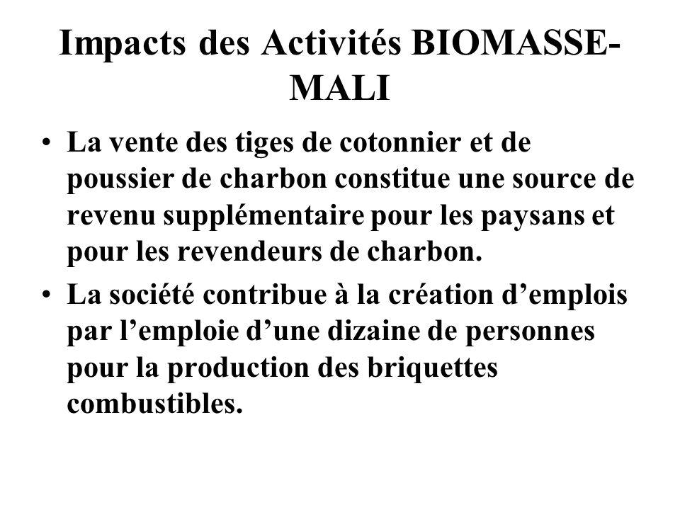 Impacts des Activités BIOMASSE-MALI