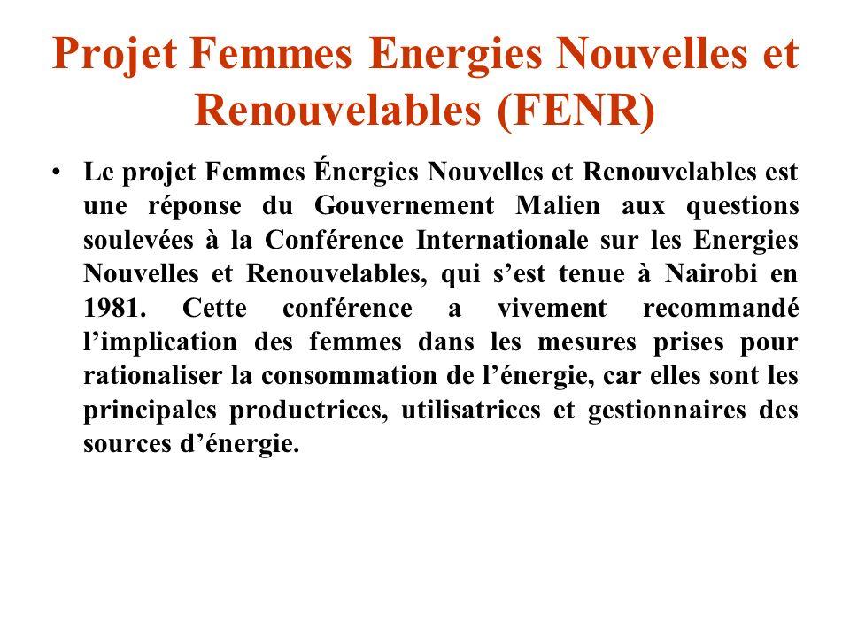 Projet Femmes Energies Nouvelles et Renouvelables (FENR)