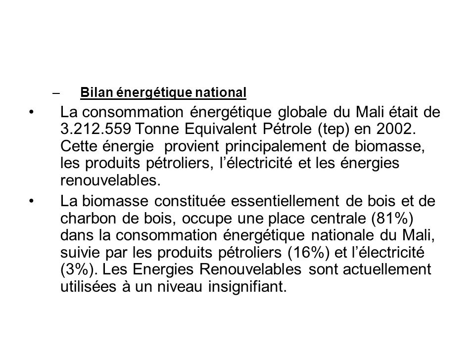 Bilan énergétique national