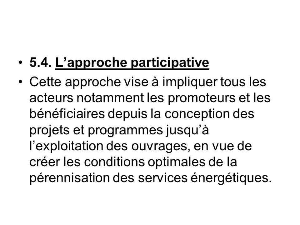 5.4. L'approche participative