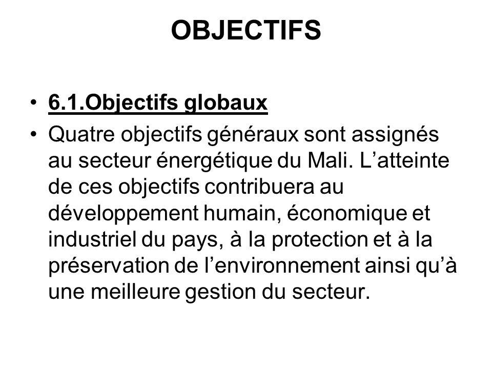 OBJECTIFS 6.1.Objectifs globaux