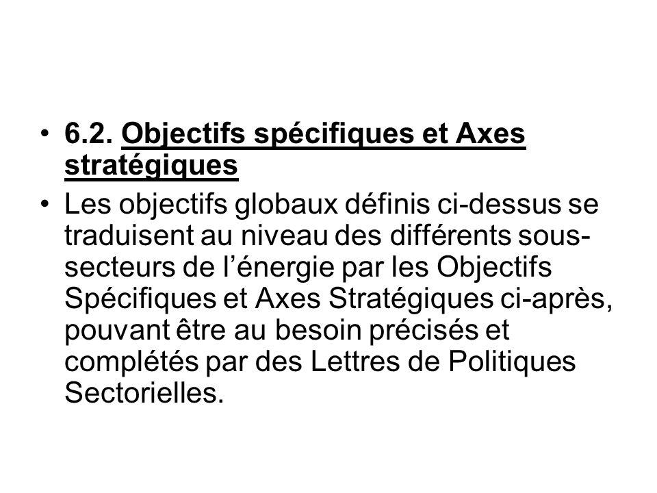 6.2. Objectifs spécifiques et Axes stratégiques
