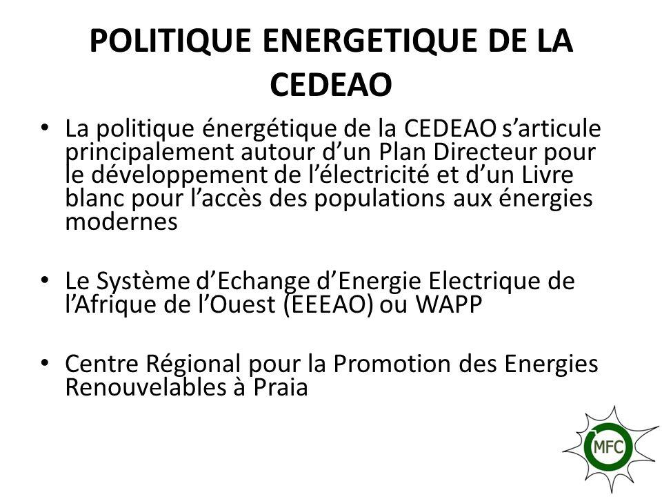 POLITIQUE ENERGETIQUE DE LA CEDEAO