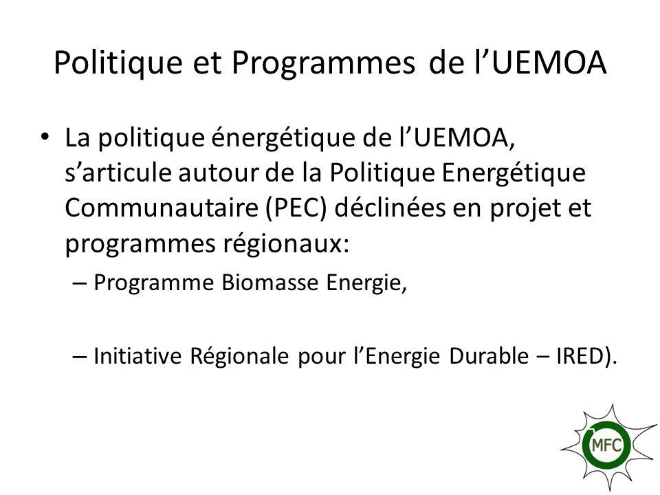 Politique et Programmes de l'UEMOA