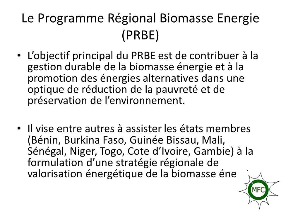 Le Programme Régional Biomasse Energie (PRBE)