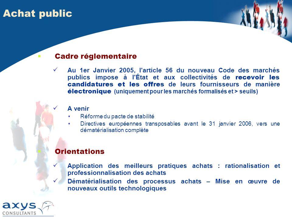 Achat public Cadre réglementaire Orientations