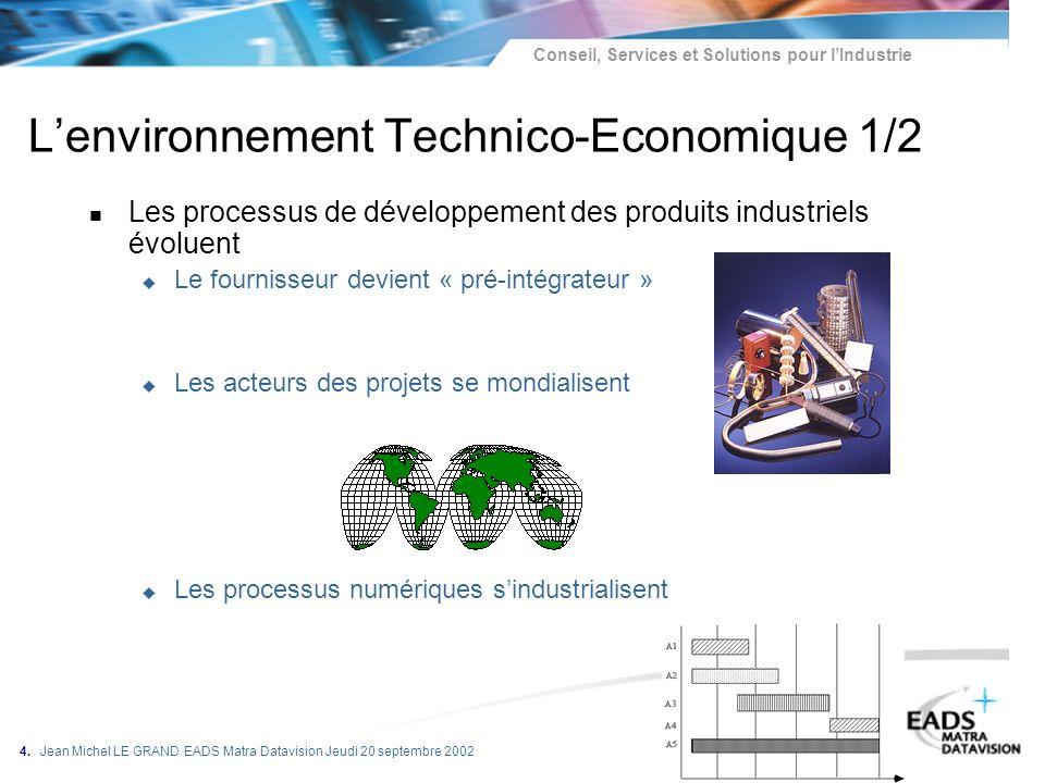 L'environnement Technico-Economique 1/2