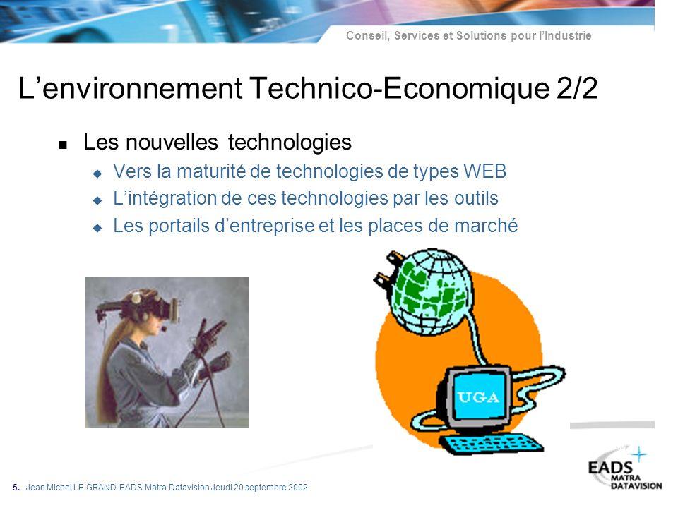L'environnement Technico-Economique 2/2
