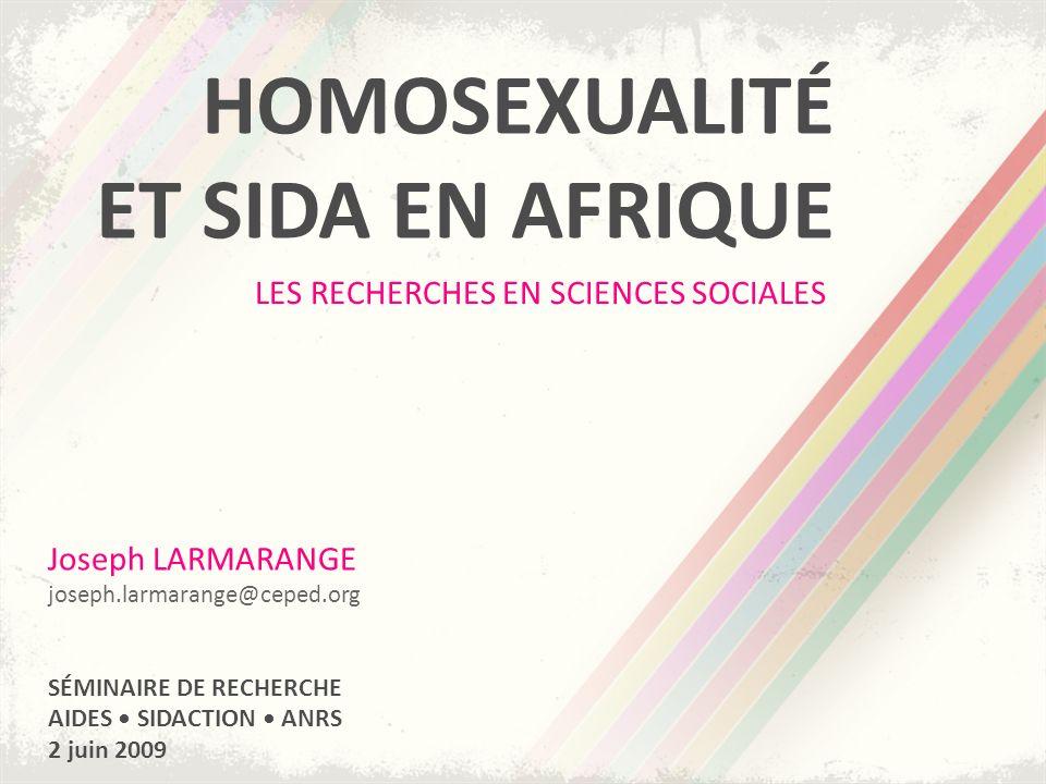HOMOSEXUALITÉ ET SIDA EN AFRIQUE