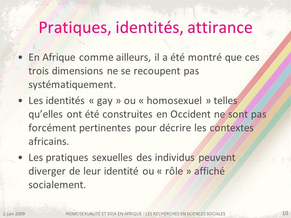 Pratiques, identités, attirance