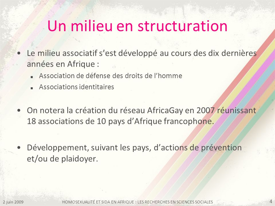 Un milieu en structuration