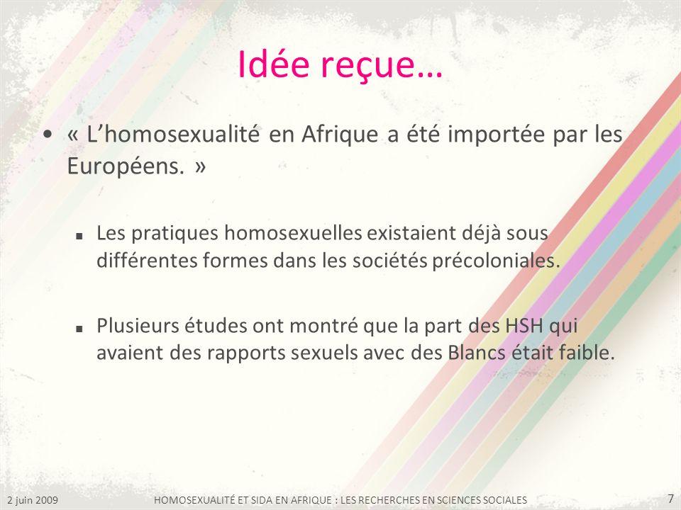 HOMOSEXUALITÉ ET SIDA EN AFRIQUE : LES RECHERCHES EN SCIENCES SOCIALES
