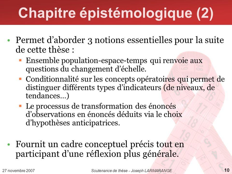 Chapitre épistémologique (2)