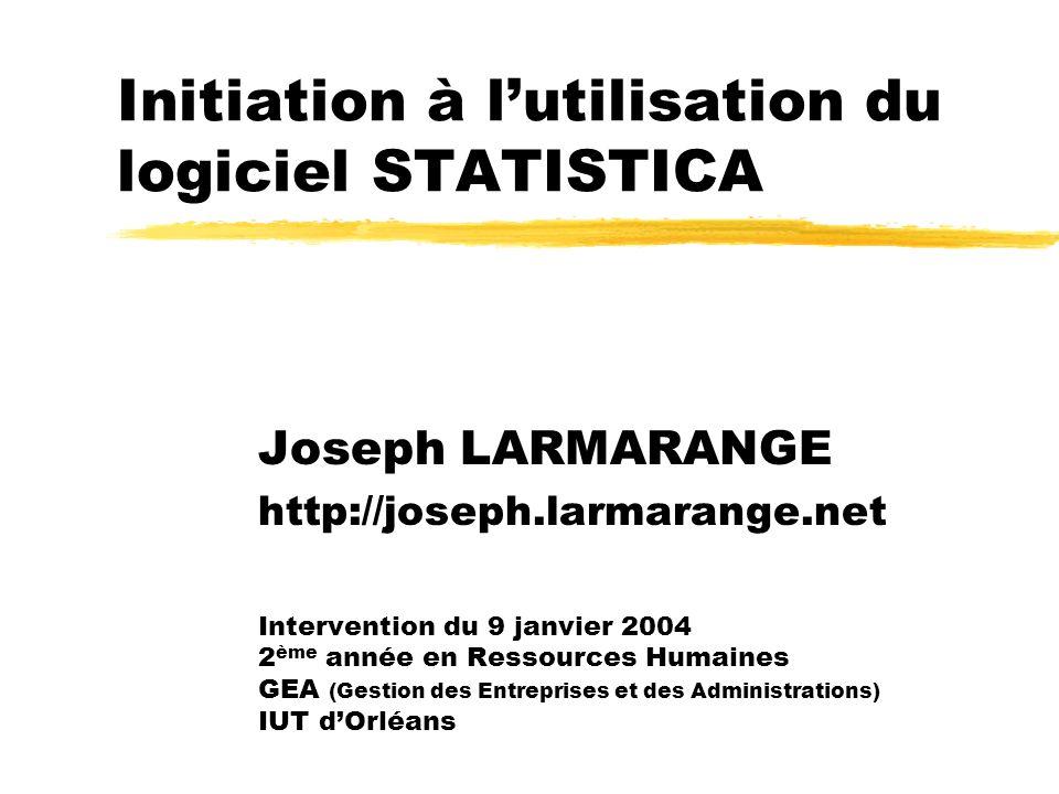 Initiation à l'utilisation du logiciel STATISTICA