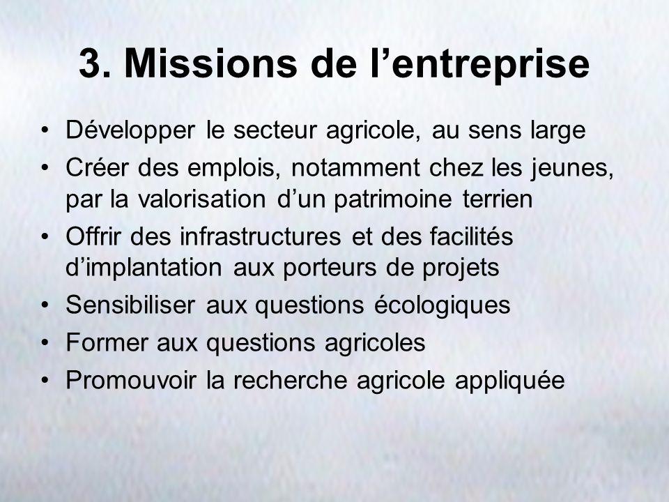3. Missions de l'entreprise