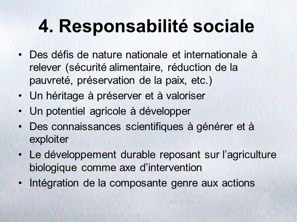 4. Responsabilité sociale