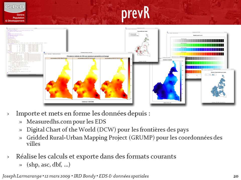 prevR Importe et mets en forme les données depuis :