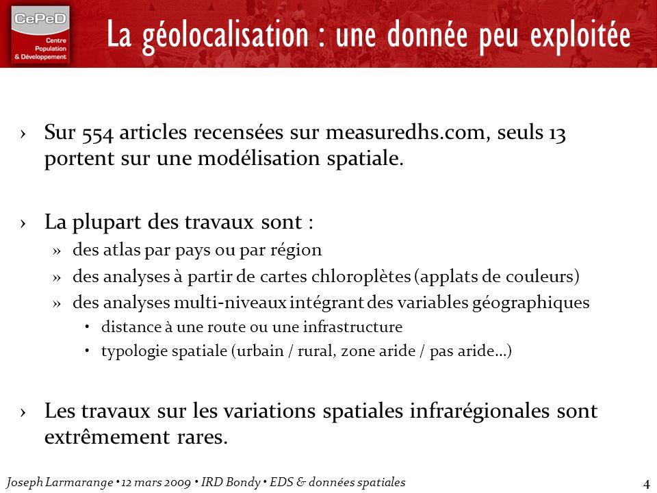 La géolocalisation : une donnée peu exploitée