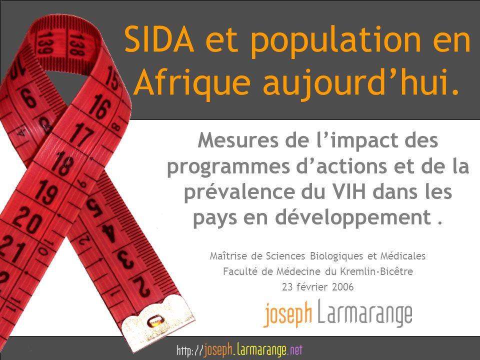 SIDA et population en Afrique aujourd'hui.