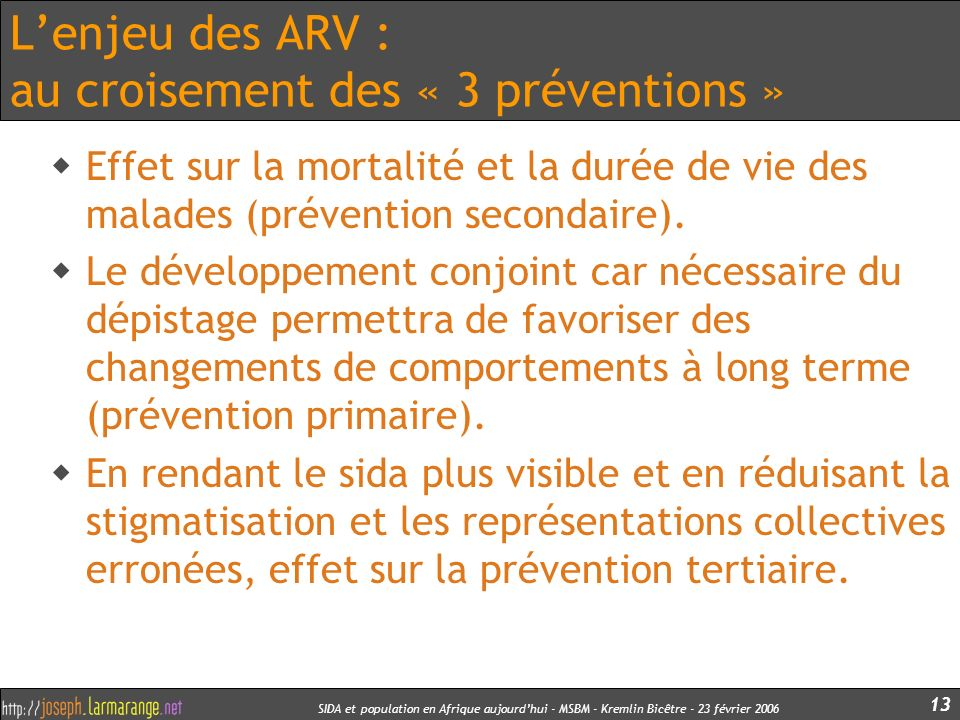 L'enjeu des ARV : au croisement des « 3 préventions »