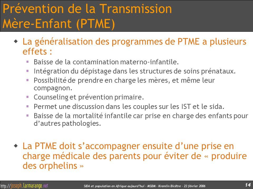 Prévention de la Transmission Mère-Enfant (PTME)