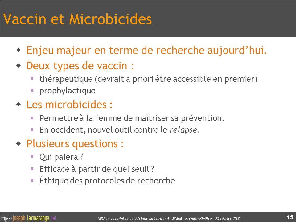 Vaccin et Microbicides