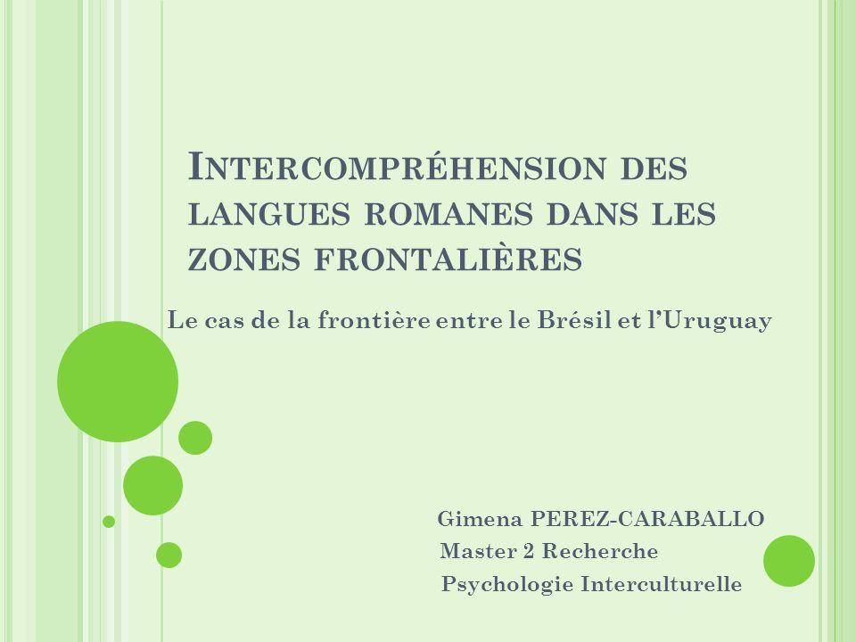 Intercompréhension des langues romanes dans les zones frontalières