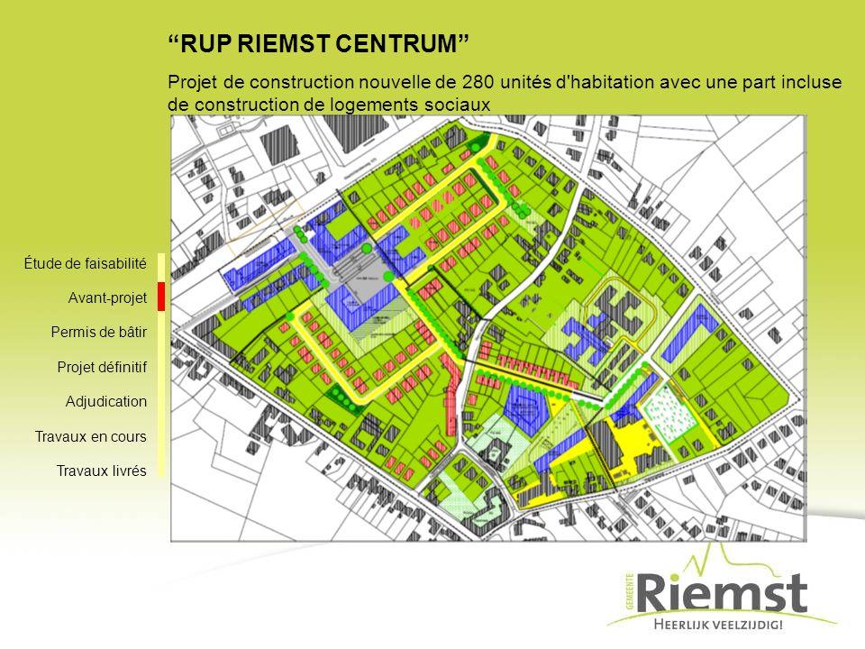 RUP RIEMST CENTRUM Projet de construction nouvelle de 280 unités d habitation avec une part incluse de construction de logements sociaux.