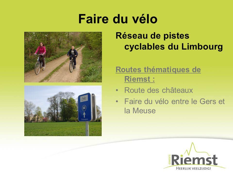 Faire du vélo Réseau de pistes cyclables du Limbourg