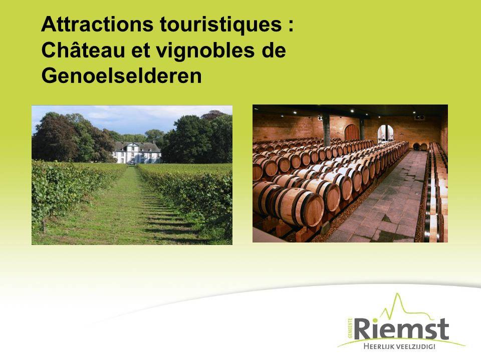 Attractions touristiques : Château et vignobles de Genoelselderen