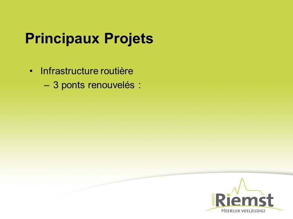 Principaux Projets Infrastructure routière 3 ponts renouvelés :