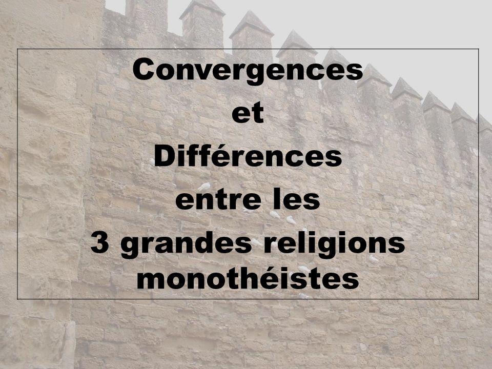 3 grandes religions monothéistes