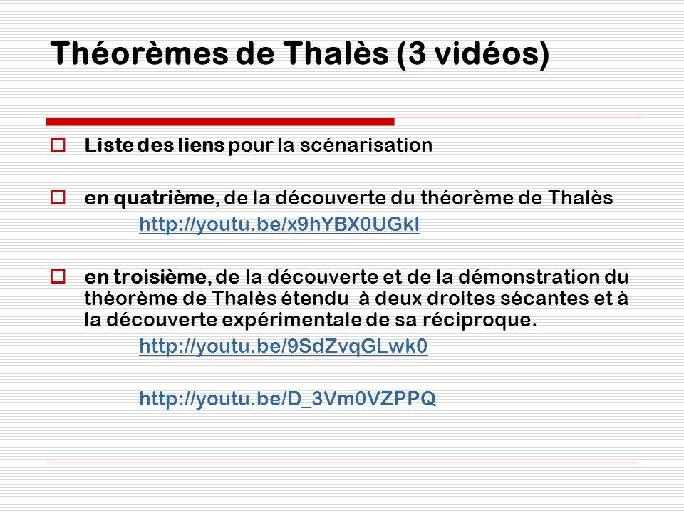 Théorèmes de Thalès (3 vidéos)