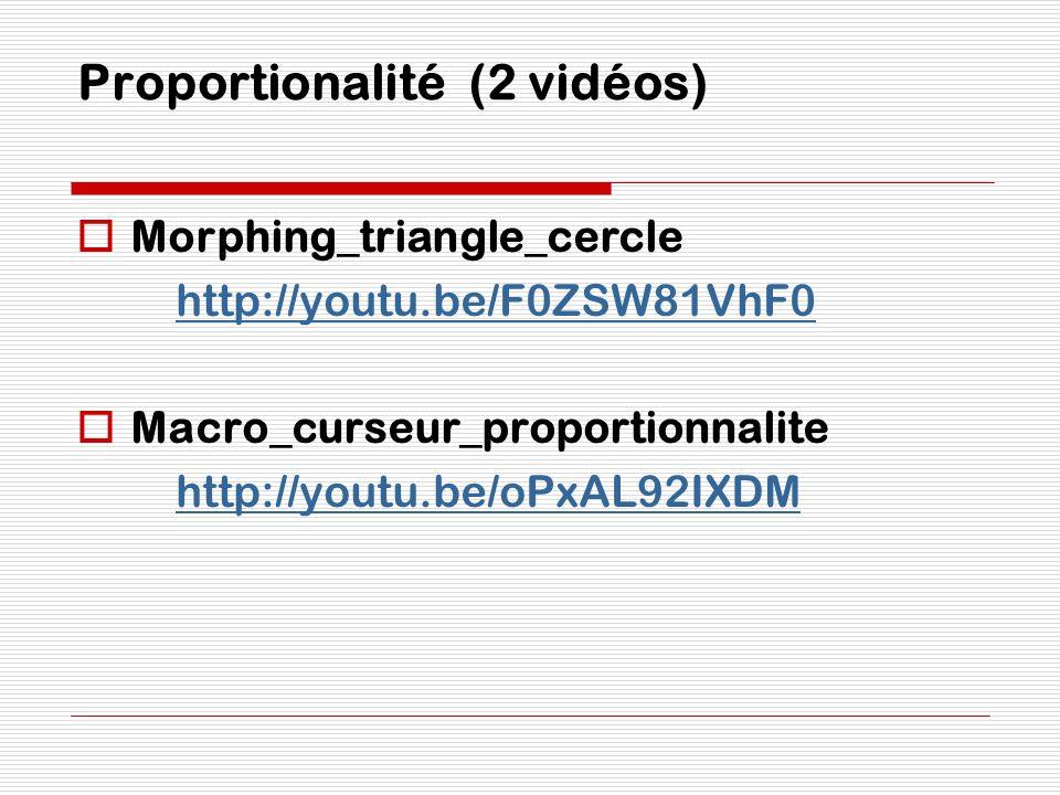 Proportionalité (2 vidéos)