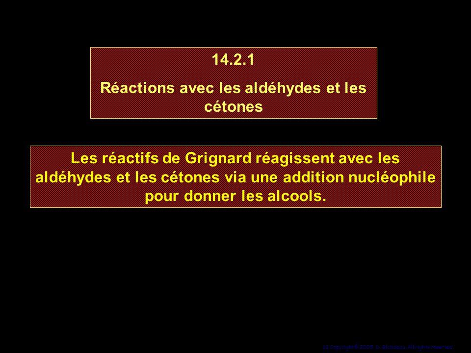 Réactions avec les aldéhydes et les cétones