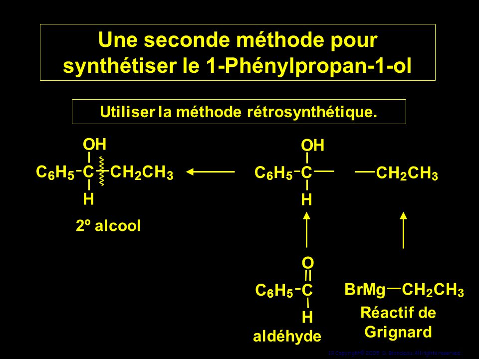 Une seconde méthode pour synthétiser le 1-Phénylpropan-1-ol