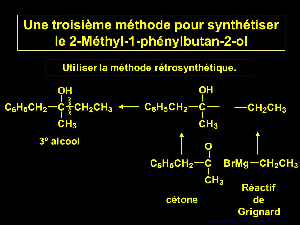 Une troisième méthode pour synthétiser le 2-Méthyl-1-phénylbutan-2-ol