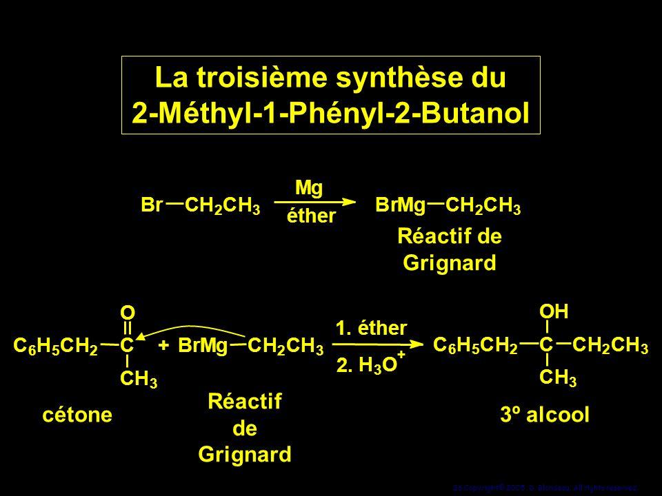 La troisième synthèse du 2-Méthyl-1-Phényl-2-Butanol