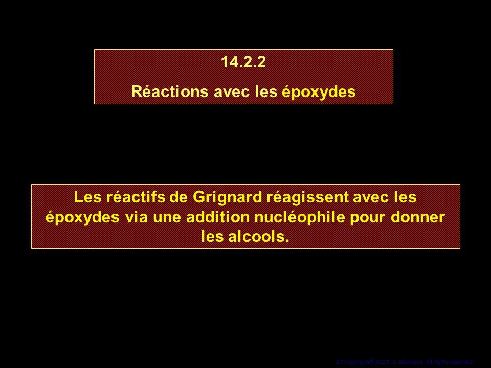 Réactions avec les époxydes